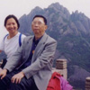 Father and I resting on top of Huang Shan